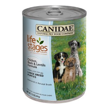 Canidae Life Stages Large Breed Puppies Chicken, Duck & Lentils Canned Dog Food, Case of 12, 13 oz.