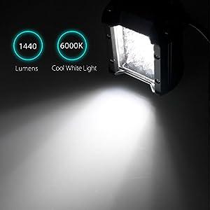 EEEKit 2-pack 4 inch 120W LED Light Bar - 6000K Cool White, Waterproof LED Pods Spotlight Fog Driving Lighting Lamp for Off Road Truck Car ATV SUV Jeep Boat
