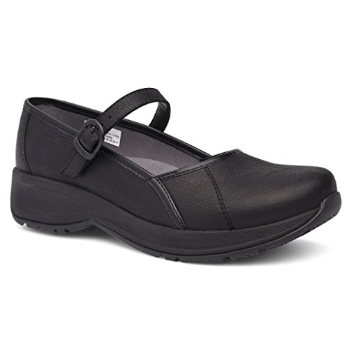 Leather Mary Jane Steffi Flat Women's Tumbled Dansko Black tAxEwO0q
