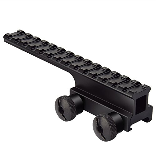 Fyland Riser Mount, Tactical High Profile Picatinny Weaver Rail Flat Top Mount Adaptor and Riser for Scopes and Optics, 1.2