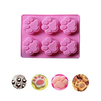 Paw Silicone Cake Mold, SmartK Cat Paw Print Silicone Cookie Cake Candy Chocolate Mold Soap Ice Cube Mold