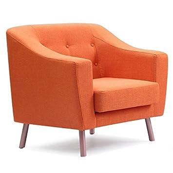Fauteuil Paris Salomon Design Orange Prix Tissu 88cm lJTK3F1c