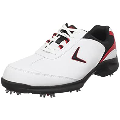 Callaway Men's Sport ERA Golf Shoe,White/Black/Red,9 M US