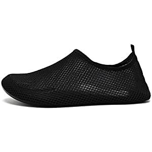 CIOR Men And Women Barefoot Skin Aqua Shoes Anti-slip Multifunctional Water Shoes For Beach Pool Surf Yoga Exercise,CT18M,Black,38.39
