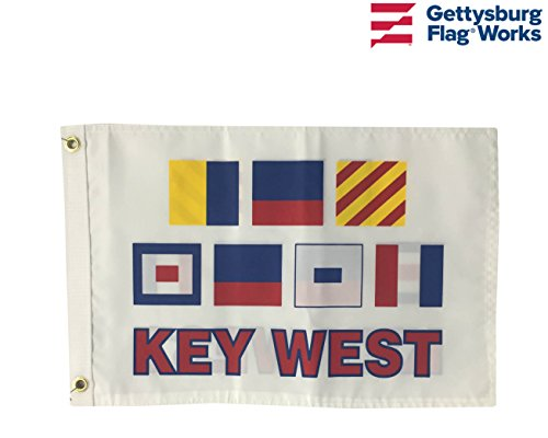Gettysburg Flag Works 12x18 Key West Nautical Boat Flag, Double Sided All-Weather Nylon, Code Signal Fun -