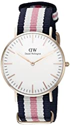 Daniel Wellington Women's 0506DW Classic Southhampton Stainless Steel Watch With Multi-Color Striped Band