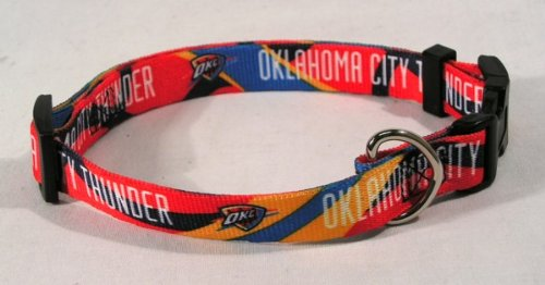 NBA Oklahoma City Thunder Adjustable Pet Collar, X-Small, Team Color
