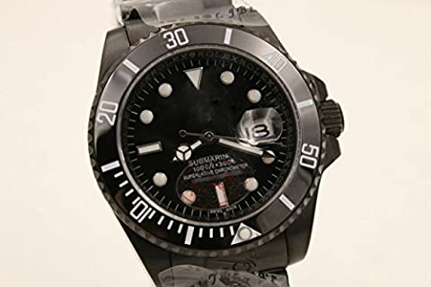 My_TimeZone Luxury Top Brand best swiss Automatic movement Black color stainless steel ceramic bezel sapphire glass Sub high quality watch (Rolex Color)