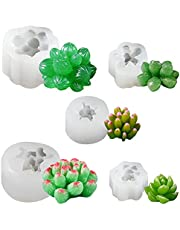 Succulent Cactus Molds, 3D Cactus Plants Silicone Molds for Resin, Handmade Candle, Wax, Soap, Clay, Cake Decorating, Fondant, Chocolate