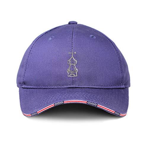 Speedy Pros American Flag Hat Cupola Embroidery Design Cotton Patriotic USA Baseball Cap Strap Closure Blue Design Only