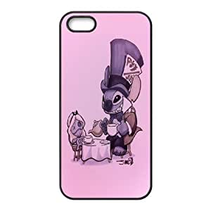 Sexyass Lilo and Stitch IPhone 5,5S Cases Cute Halloween Poster., [Black]
