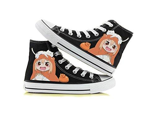 Himouto! Umaru-chan Doma Umaru Zapatos De Cosplay Zapatos De Lona Zapatillas Negro / Blanco 1 Negro 2