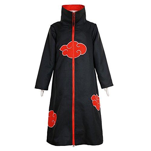 CG Costume Men's Akatsuki Itachi Uchiha Cloak Uniform Cosplay Costume (Konan Akatsuki Cosplay Costume)