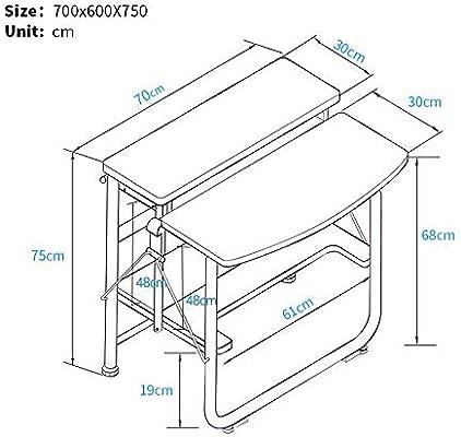 Table Mesa FEI Escritorio para Ordenador portátil de 2 Niveles ...