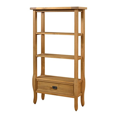 Bookcase/ Bookshelves, Traditional Walker Antique Pine Brown Finish Bookcase - Assembly Required OSLN1535. 32.01 in Wide x 12.52 in Deep x 60 in High by Oh! Home