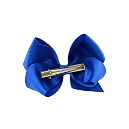 YHXX YLEN Boutique Large Bows Grosgrain Ribbon Pinwheel Hair Bow Alligator Clips Barrettes for Baby Girls Toddlers Kids