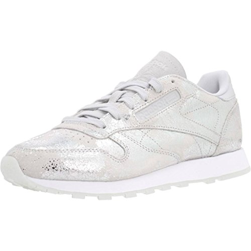 Argento Leather Deportivas metallizzato Texturial BS6785 Reebok Classic FnAOqwT