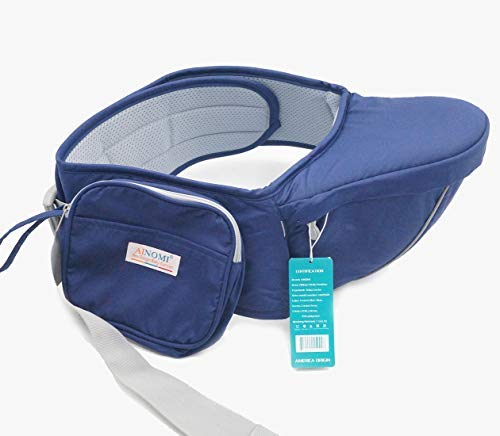 Ainomi Porte-bébé Ventral Léger Tabouret Respirant avec Siège de Hanche  Multi Positions Confortable pour Bébés de 4 à 36 Mois Ergonomique pour  Travail ... d5c64204074