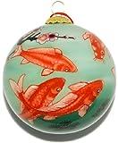 Ornament, Golden Koi and Cherry Blossom - CO183