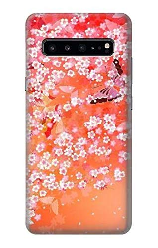 R2543 Japanese Kimono Style Flower Pattern Case Cover for Samsung Galaxy S10 ()