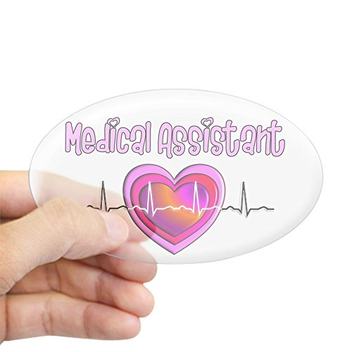 Assistant Sticker - CafePress - Medical Assistant - Oval Bumper Sticker, Euro Oval Car Decal