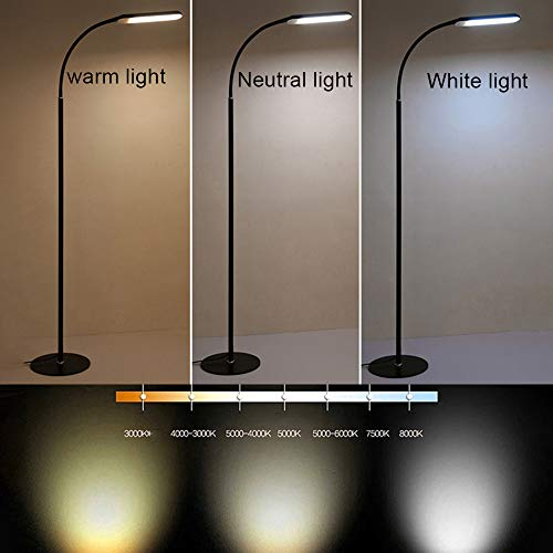Knobs Dome Acrylic (Floor Lamp, SUJING Office/Work/Living Room Reading Flexible Gooseneck Light Eye-Care Technology Light Modern Sturdy Standing Lamp Light)