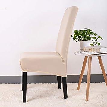 ZSYFR Impression Solide Flexible /élastique Anti-Sale Couverture de Chaise Grande Banquet h/ôtel Salle /à Manger d/écoration de la Maison Housse de Protection Grande Taille XL Black XL Size