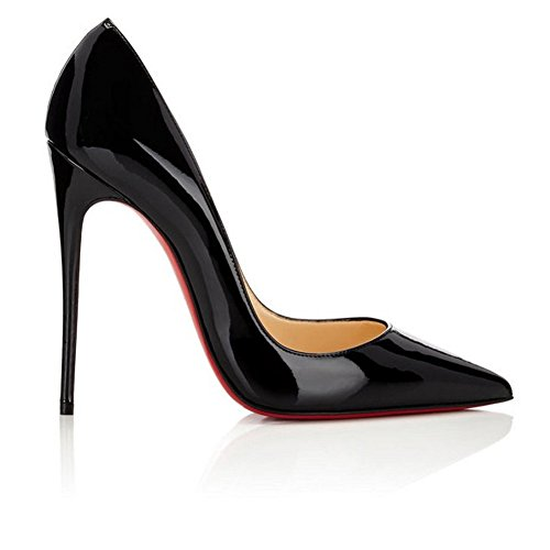 B0tt0m Dress Shoes Womens Heel Court Pointed Pan High A Stilettos Toe 11 Pumps Shoes UK 3 Sexy Basic Size On Slip black Formal Caitlin Red 8ZSw5vqw