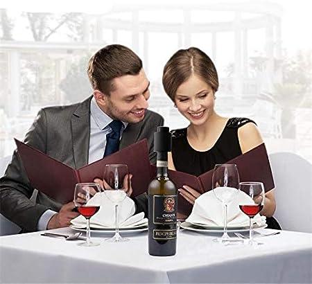 Tapones de Vino de Vacío de Acero, Tapón de Vino Vacío Con Escala de Fecha Tapón de Vino Seguro Tapón de Vino Sellado para un Almacenamiento más Prolongado