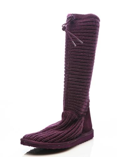 Botas - 4249-knitsuew Dk plum
