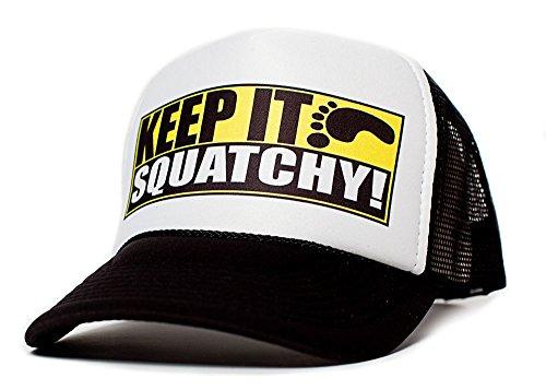 Keep It Squatchy Unisex-Adult One Size Trucker Hat Multi (BLACK)
