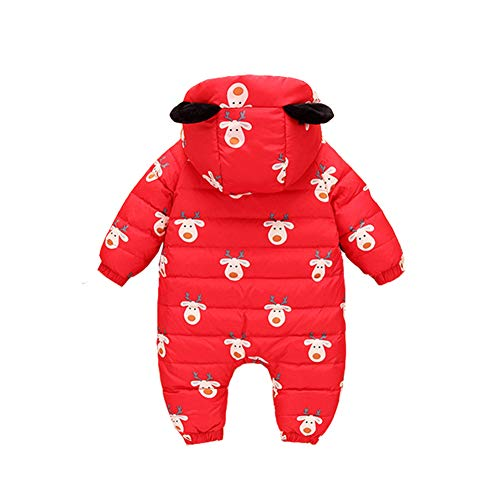 Baby Snuggly Romper Jumpsuit Romper Pieces Snowsuit Boy Girl Baby Winter Warm Red Fairy 3 q701wtnH