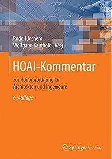 Hoai Honorarordnung Fur Architekten Und Ingenieure Kommenta Amazon