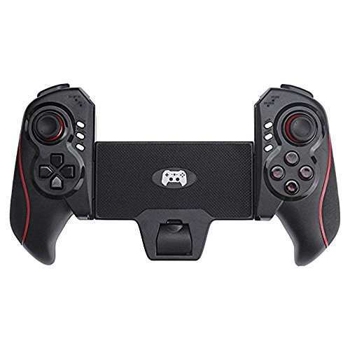 Stoga Hightech-STM01 Game Controller einzigartige Design Bluetooth Controller PC Gamepad f¨¹r iPhone/iPod/iPad/Android Handy/Tablet PC-Schwarz + rot
