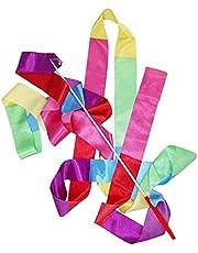NIDONE Gym Dans Lint Ritmische Streamer 4 M Kunst Gymnastiek Ballet Twirling Rod Kerst voor Sport Gemengde Kleur