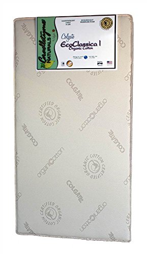 "Colgate Eco Classica I | Natural Foam Crib Mattress | 51.6"" L x 27.2 W"" x 5"" Thick 