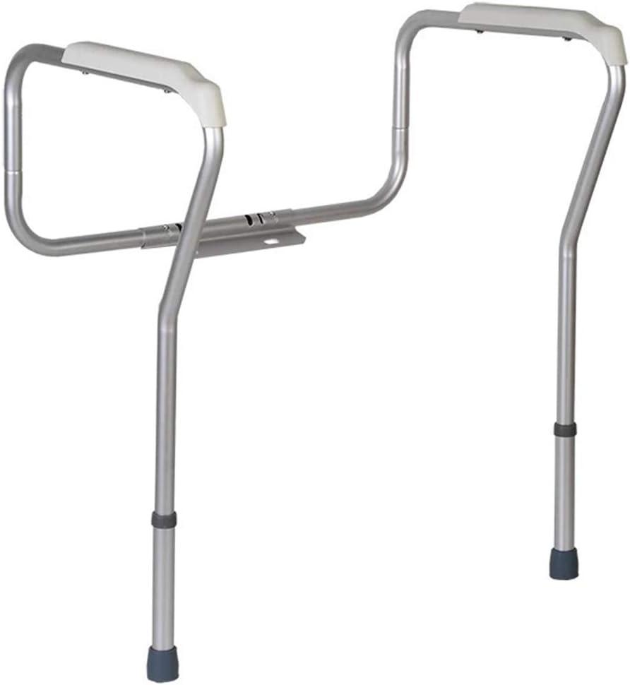 Blusea Toilet Rail, Bathroom Safety Frame Adjustable Height Medical Handicap Lightweight Anti-Slip Handrail Grab Bar for Elderly Pregnant Disabled
