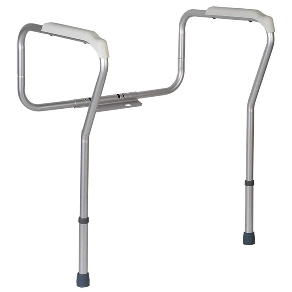 Weehey Toilet Rail Bathroom Safety Frame Adjustable Height Medical Handicap Lightweight Anti-Slip Handrail Grab Bar for Elderly Pregnant Disabled