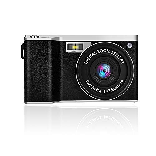 GordVE 4.0 Inch Touch Screen Digital Camera Camcorder HD 1080P Wide Angle Lens Vlogging Camera 24MP Video Camera, 8X Digital Zoom Camera with Flash Microphone