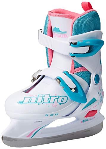 Lake Placid (LAKAM) LP102G-S Lake Placid Girls Nitro 8.8 Adjustable Figure Ice Skate, White, Small (Renewed)