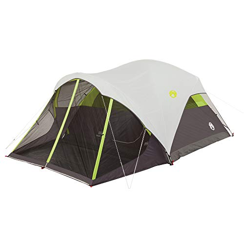 Coleman Steel Creek Fast Pitch Dome Tent with Screen Room, - Alder Set Cabinet