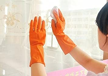 DWS 1 Pair Household Washing Kitchen Latex Hand Rubber Gloves For All Cleaning