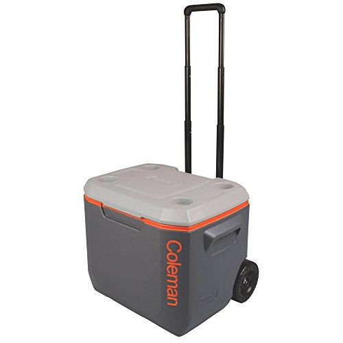 Coleman 3000002005 50Qt Xtreme Wheeled Cooler Dark Gray/Org/Light ()