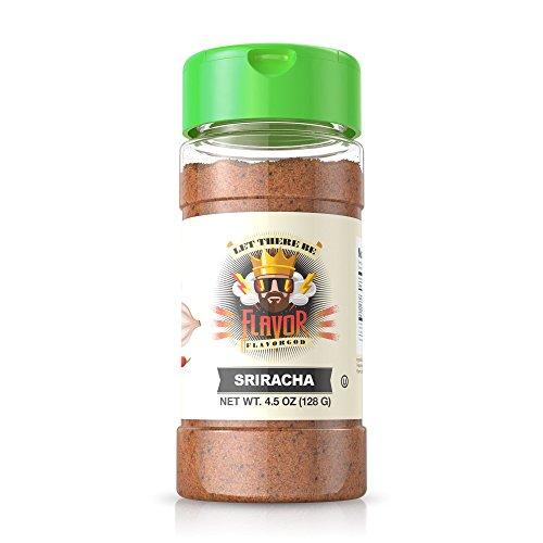 Flavor Seasoning - Flavor God Seasonings - Sriracha, Gluten Free, Low Sodium, Paleo, Vegan, 4.5 oz