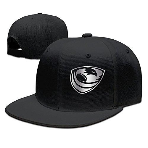 Usa Rugby Platinum Logo Baseball Snapback Hat Black