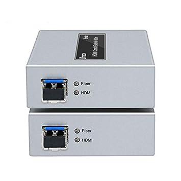 Amazon.com: Extensor de fibra óptica 4K HDMI 984.3 ft 6.2 mi ...
