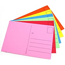 Hygloss Products Kid's Blank Make and Mail Postcards - 4 x 5-1/2 Inches, Assorted Colors, 25 Pack