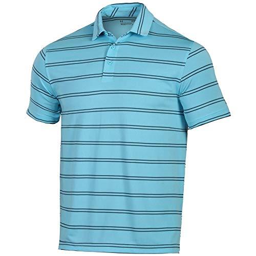 Under Armour New Mens 2019 Eagle Stripe Golf Polo Shirt Venetian Blue XL (Venetian Stripe)