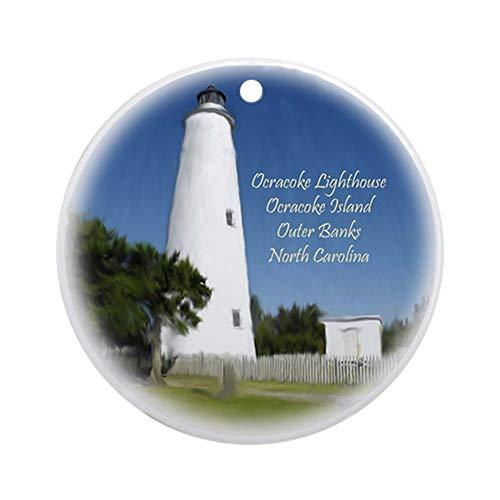 - CafePress Ocracoke Island Lighthouse Christmas Ornament Round Holiday Christmas Ornament
