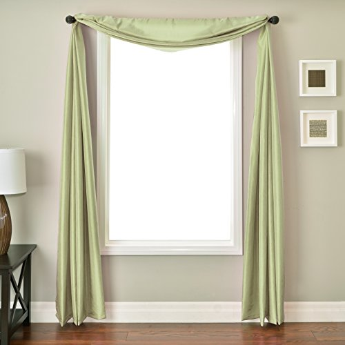 Softline Home Fashions NETHmntSC Bella Kids 6 Yard Window Scarf, Mint ()